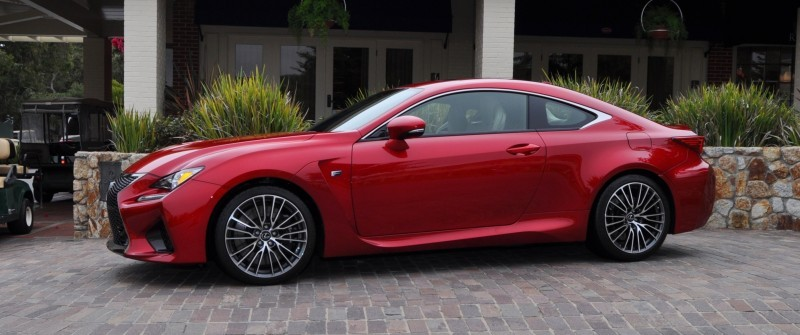 2015 Lexus RC-F in Red at Pebble Beach 11