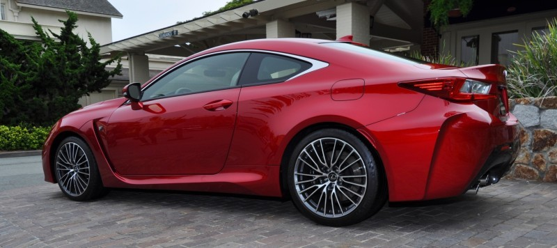 2015 Lexus RC-F in Red at Pebble Beach 110