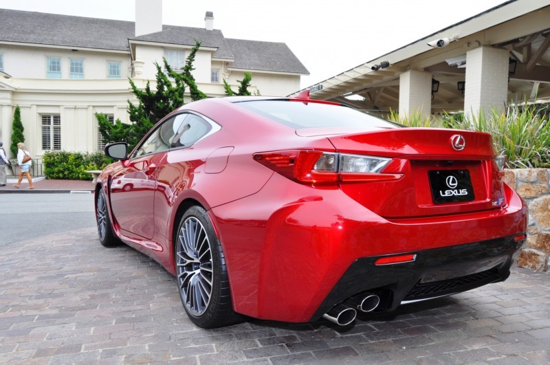 2015 Lexus RC-F in Red at Pebble Beach 111