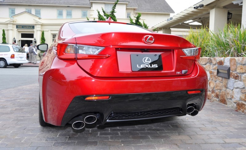 2015 Lexus RC-F in Red at Pebble Beach 112