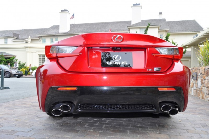 2015 Lexus RC-F in Red at Pebble Beach 113