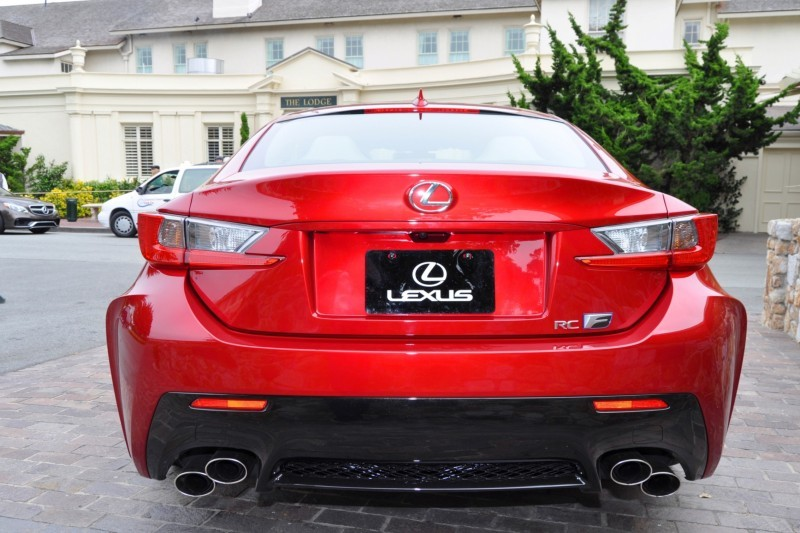 2015 Lexus RC-F in Red at Pebble Beach 114