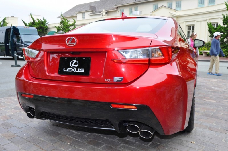 2015 Lexus RC-F in Red at Pebble Beach 115