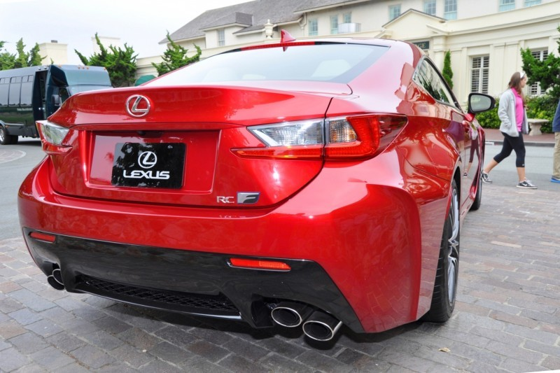 2015 Lexus RC-F in Red at Pebble Beach 116