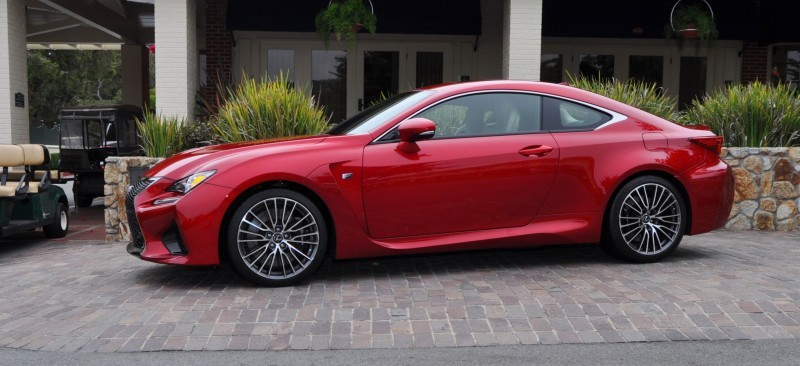 2015 Lexus RC-F in Red at Pebble Beach 12