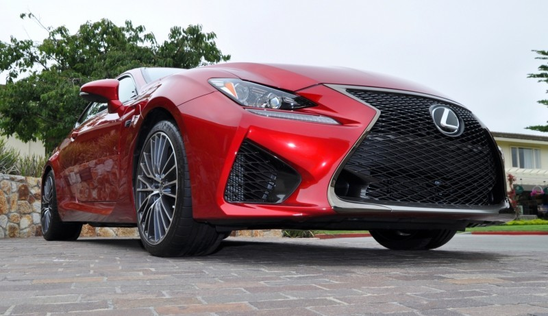 2015 Lexus RC-F in Red at Pebble Beach 127