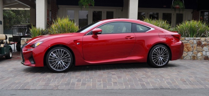 2015 Lexus RC-F in Red at Pebble Beach 13