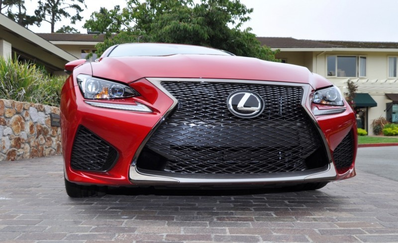 2015 Lexus RC-F in Red at Pebble Beach 130