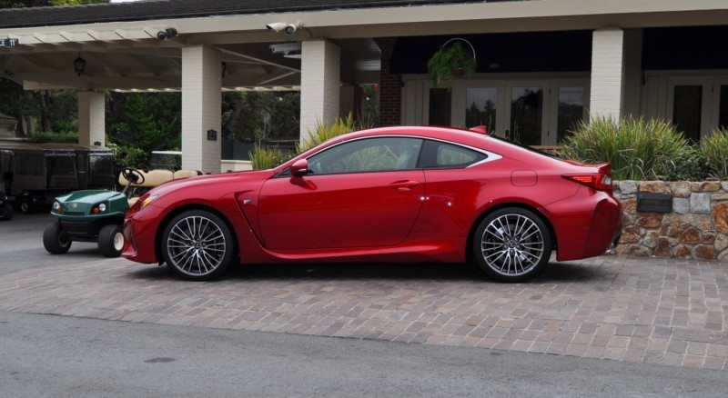 2015 Lexus RC-F in Red at Pebble Beach 21