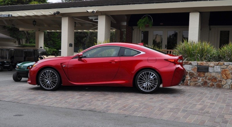 2015 Lexus RC-F in Red at Pebble Beach 23