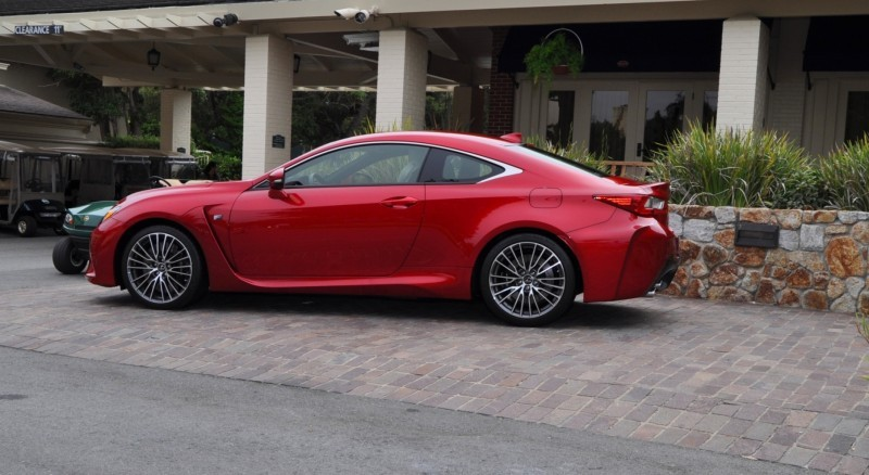 2015 Lexus RC-F in Red at Pebble Beach 24