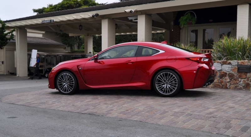 2015 Lexus RC-F in Red at Pebble Beach 25