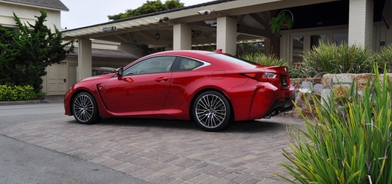 2015 Lexus RC-F in Red at Pebble Beach 26