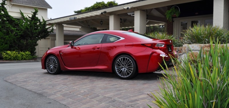 2015 Lexus RC-F in Red at Pebble Beach 27