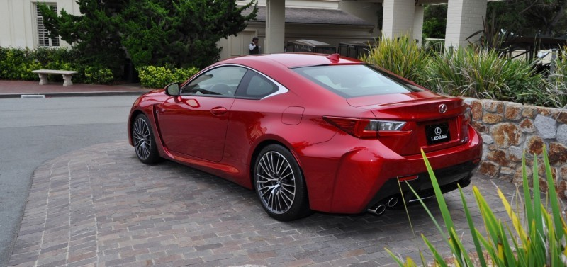 2015 Lexus RC-F in Red at Pebble Beach 30