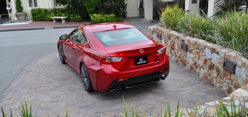 2015 Lexus RC-F in Red at Pebble Beach 34