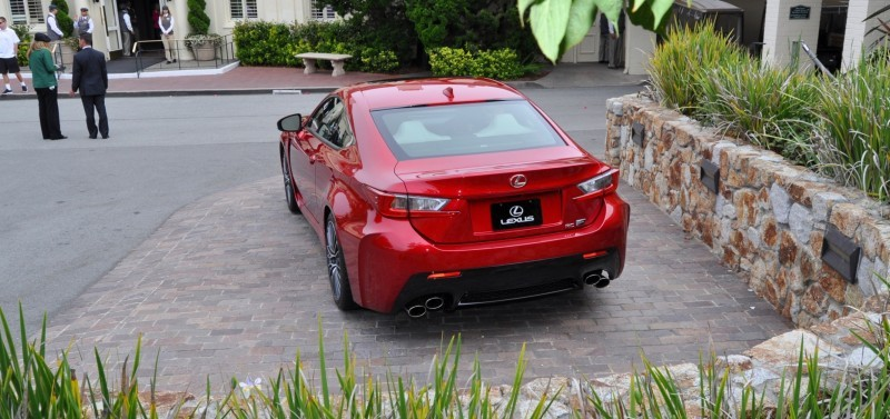 2015 Lexus RC-F in Red at Pebble Beach 36