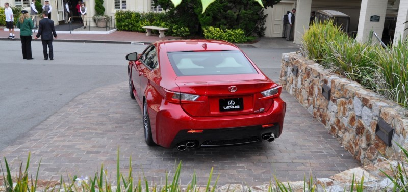 2015 Lexus RC-F in Red at Pebble Beach 37