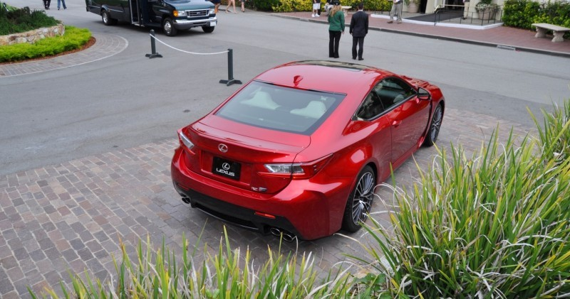 2015 Lexus RC-F in Red at Pebble Beach 45