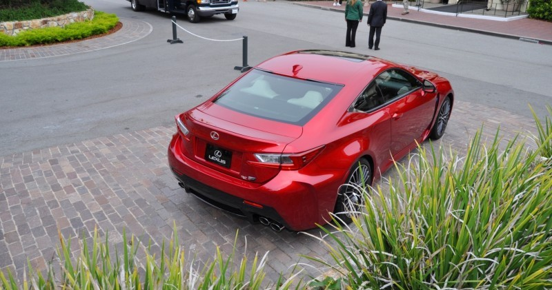 2015 Lexus RC-F in Red at Pebble Beach 46