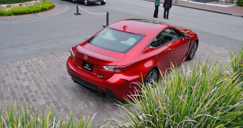 2015 Lexus RC-F in Red at Pebble Beach 47