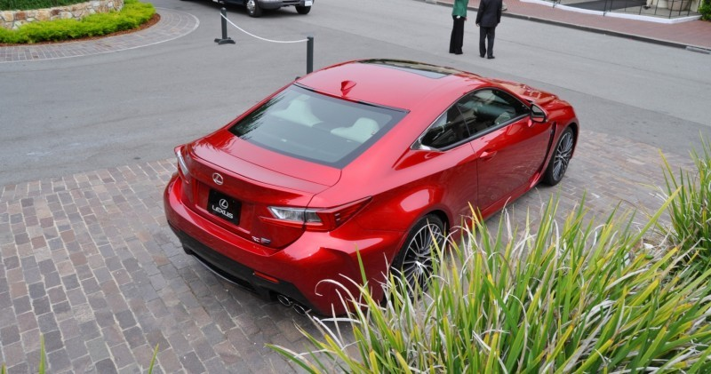 2015 Lexus RC-F in Red at Pebble Beach 48