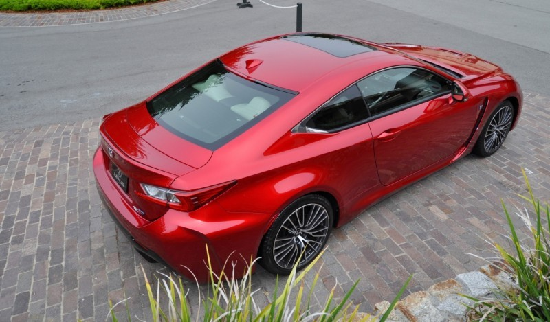 2015 Lexus RC-F in Red at Pebble Beach 55