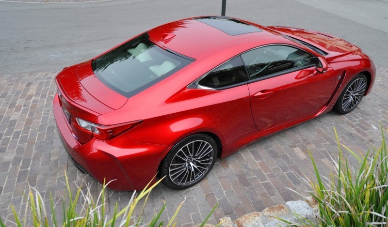 2015 Lexus RC-F in Red at Pebble Beach 56