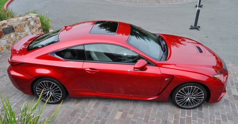 2015 Lexus RC-F in Red at Pebble Beach 59