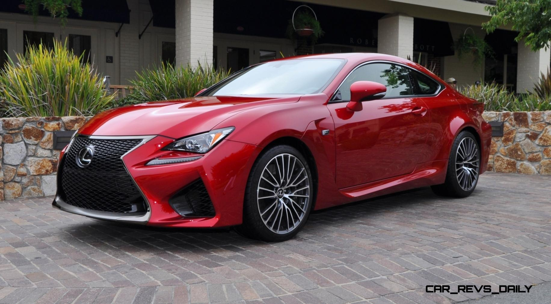 2015 lexus rc f in red at pebble beach 6. Black Bedroom Furniture Sets. Home Design Ideas