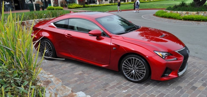 2015 Lexus RC-F in Red at Pebble Beach 60