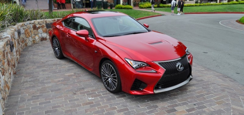 2015 Lexus RC-F in Red at Pebble Beach 66