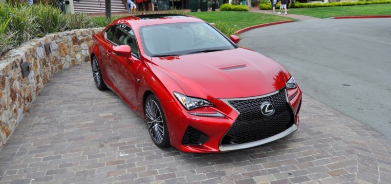 2015 Lexus RC-F in Red at Pebble Beach 68