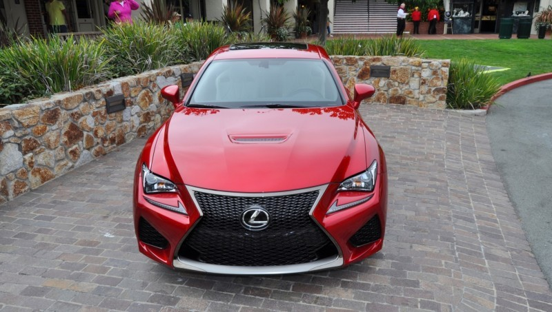 2015 Lexus RC-F in Red at Pebble Beach 76
