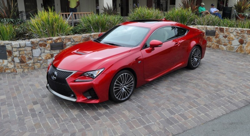 2015 Lexus RC-F in Red at Pebble Beach 86