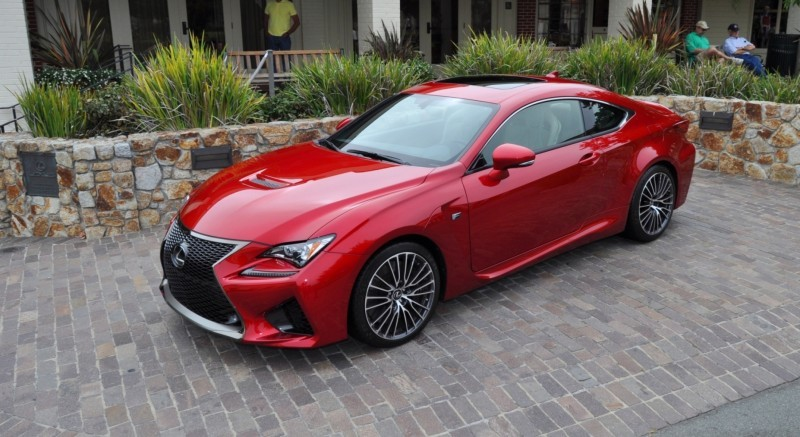 2015 Lexus RC-F in Red at Pebble Beach 87