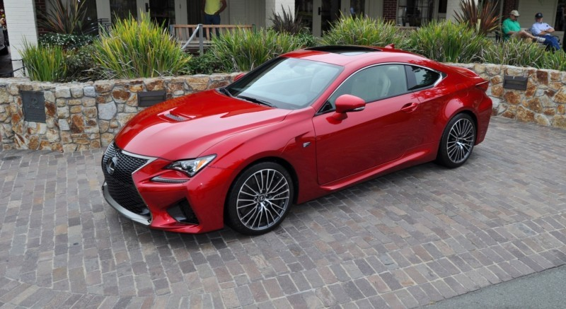 2015 Lexus RC-F in Red at Pebble Beach 88