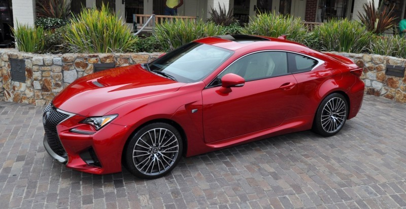 2015 Lexus RC-F in Red at Pebble Beach 90