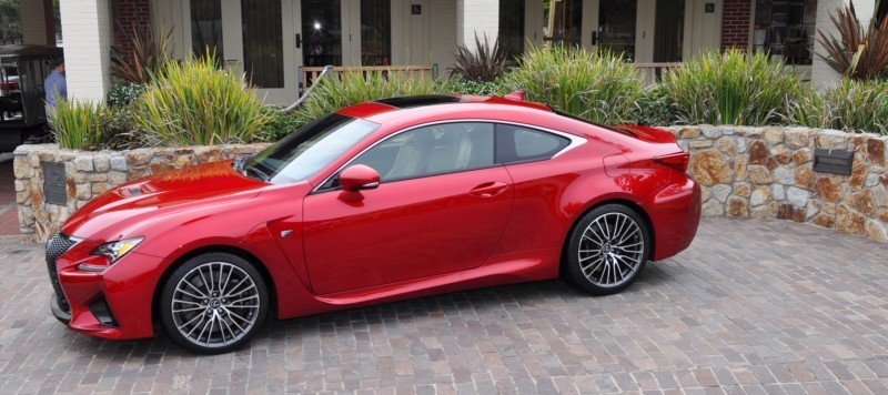2015 Lexus RC-F in Red at Pebble Beach 93