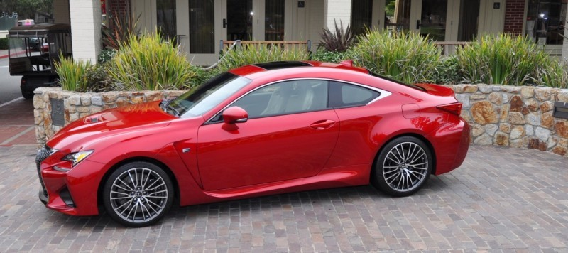 2015 Lexus RC-F in Red at Pebble Beach 94