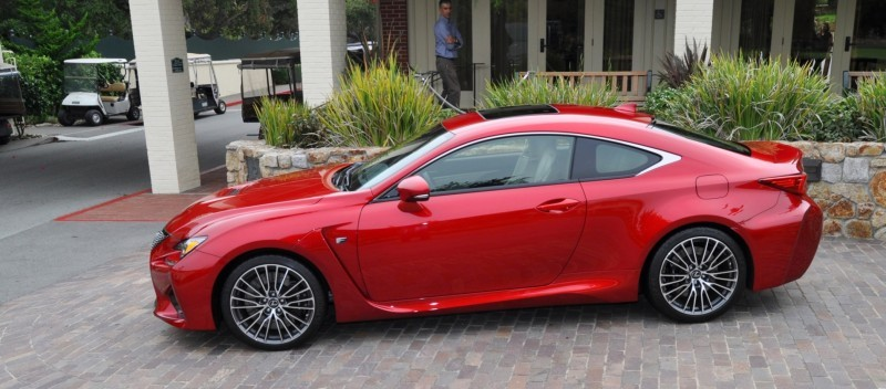 2015 Lexus RC-F in Red at Pebble Beach 98