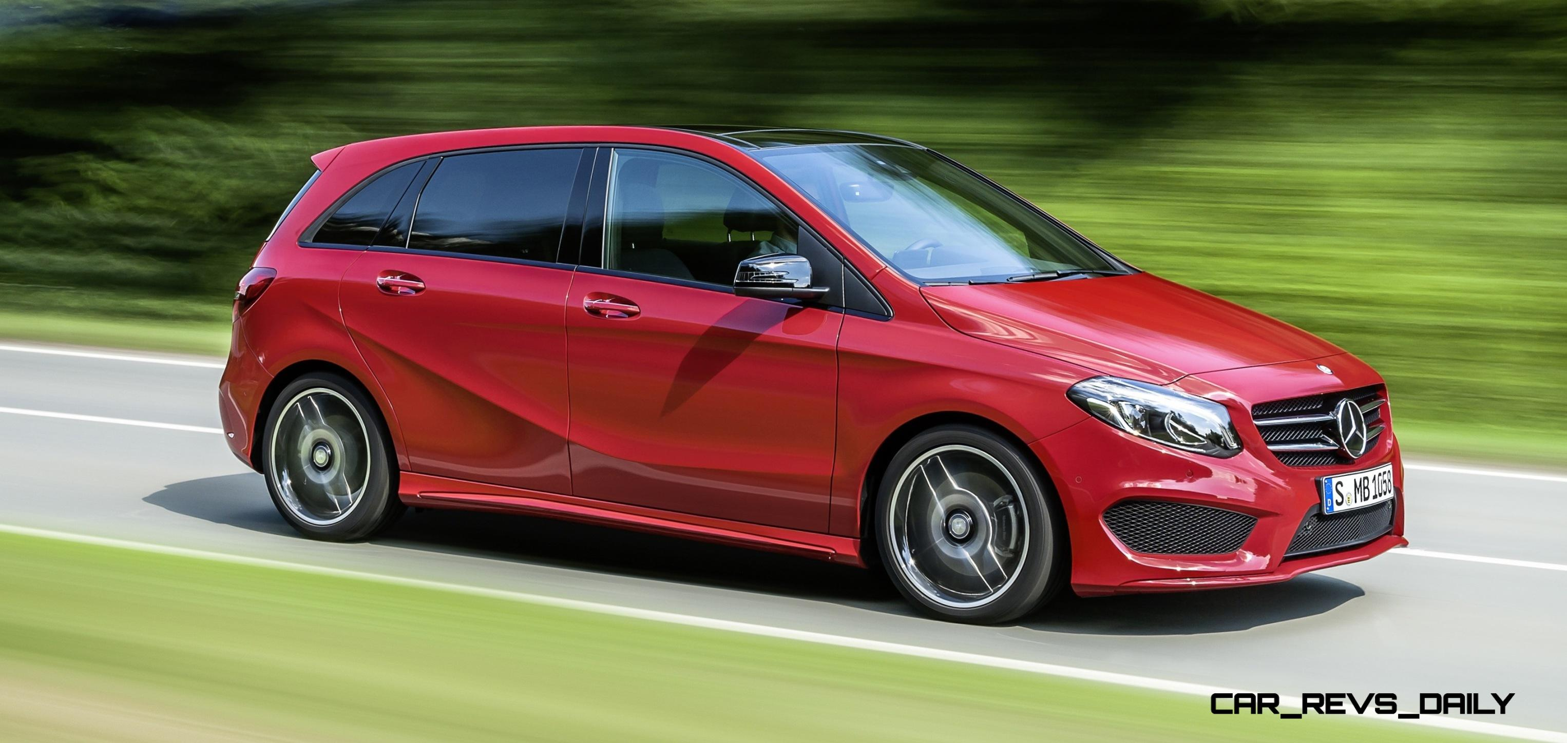2015 mercedes benz b class makes uk debut with fresh style and tech. Black Bedroom Furniture Sets. Home Design Ideas