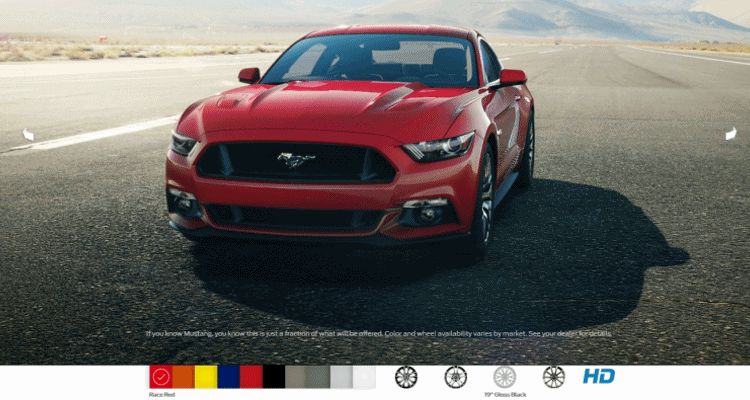 few months ago we created a digital colorizer for the new mustang