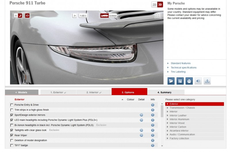 2015 Porsche 911 Turbo S - Configurator Options 24