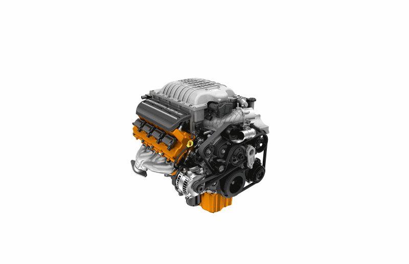 2015 SRT Challenger Hellcat ENGINE DETAILED ENGINEERING GIF