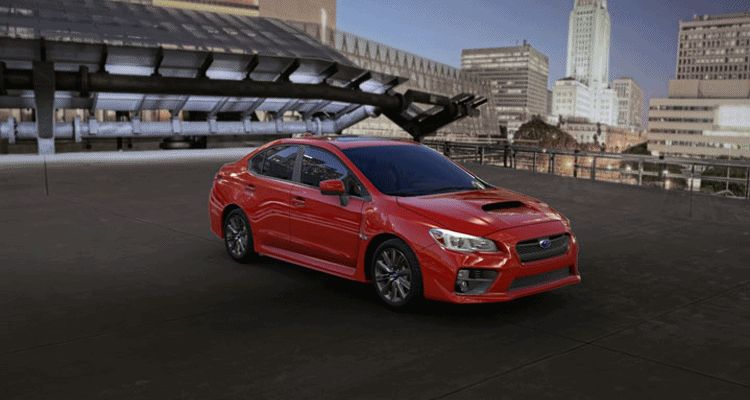 2015 Subaru WRX Lightning Red Spinner GIF