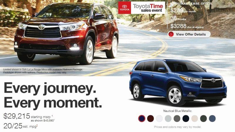 2015 Toyota HighlanderEXTERIOR COLRS GIF1