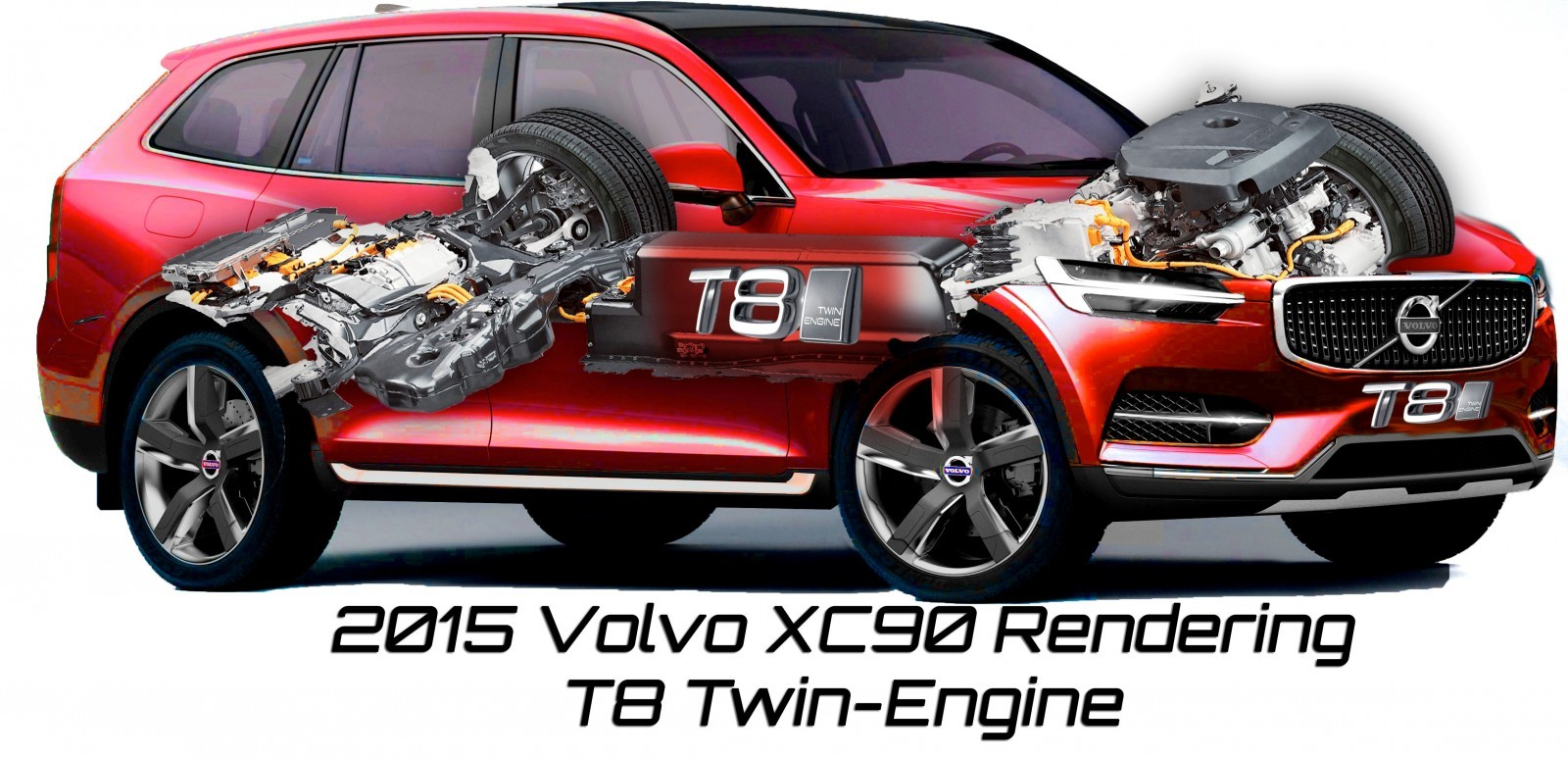 2015 VOLVO XC90 Powertrain Teaser - Twin-Engine PHEV with 400HP Dubbed T8, 316HP T6 Also Coming to USA 543