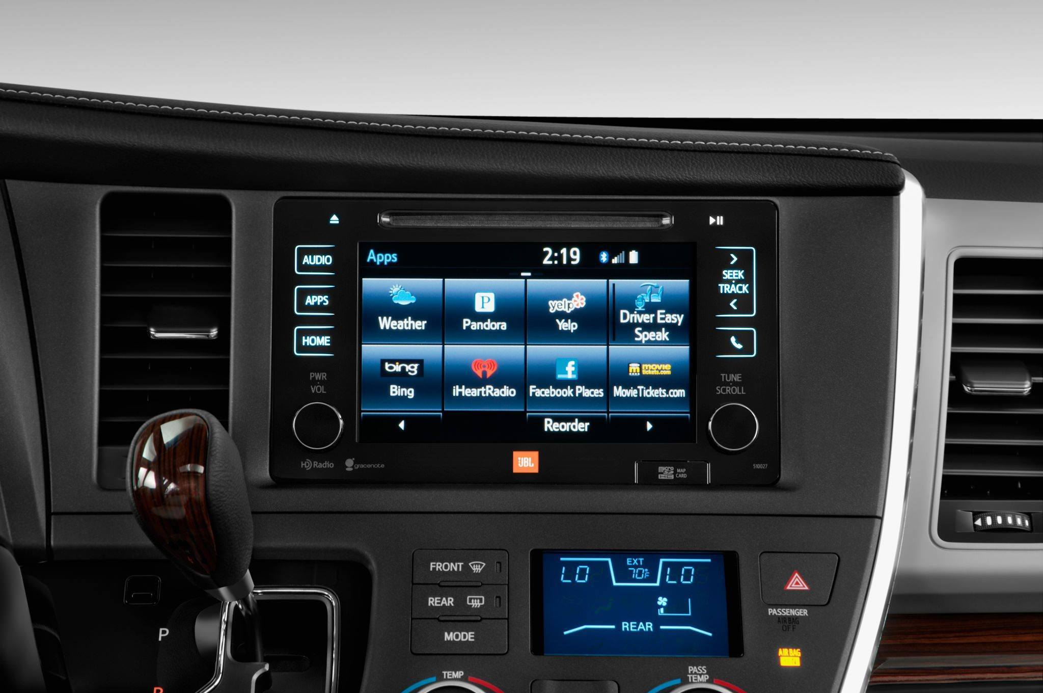 2015 Toyota Sienna Brings Refreshed Touchscreens Dark