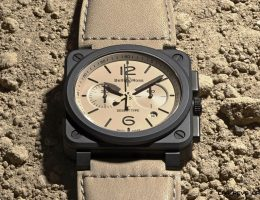 Bell & Ross Debuts BR03-94 DESERT TYPE – Haute Chronos in Gunmetal Ceramic/Tan Calfskin